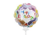 HBD-001 Happy Birthday Self Inflating Balloons
