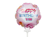 HBD-004 Happy Birthday Self infalting balloon