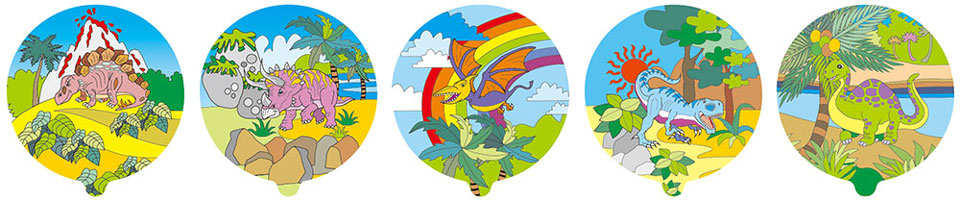 恐龍家族自動充氣氣球