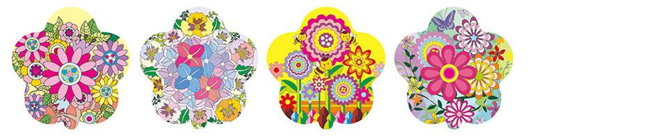 花朵图案自动充气气球