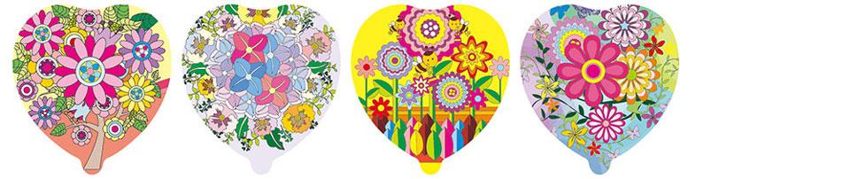 花朵造型自动充气气球(爱心)