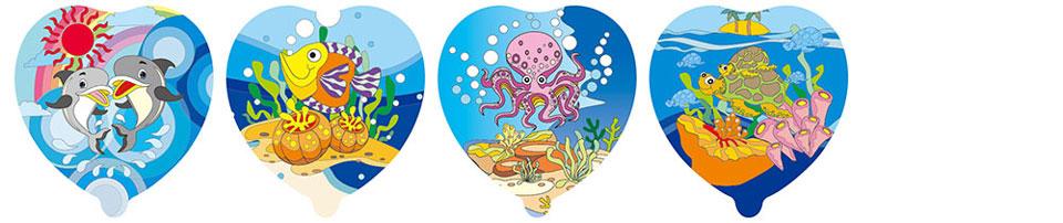 海洋世界自动充气气球