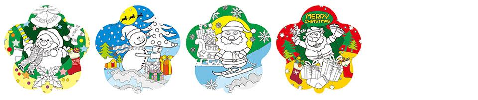 聖誕老人塗鴉彩繪氣球(花朵形)