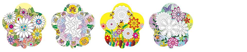 花朵圖案塗鴉彩繪氣球(花朵形)