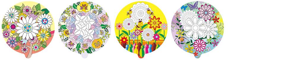 花朵圖案塗鴉彩繪氣球(圓形)