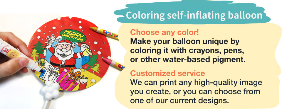 Graffiti self inflatable balloons, paintable balloons, crayon, colour pencil