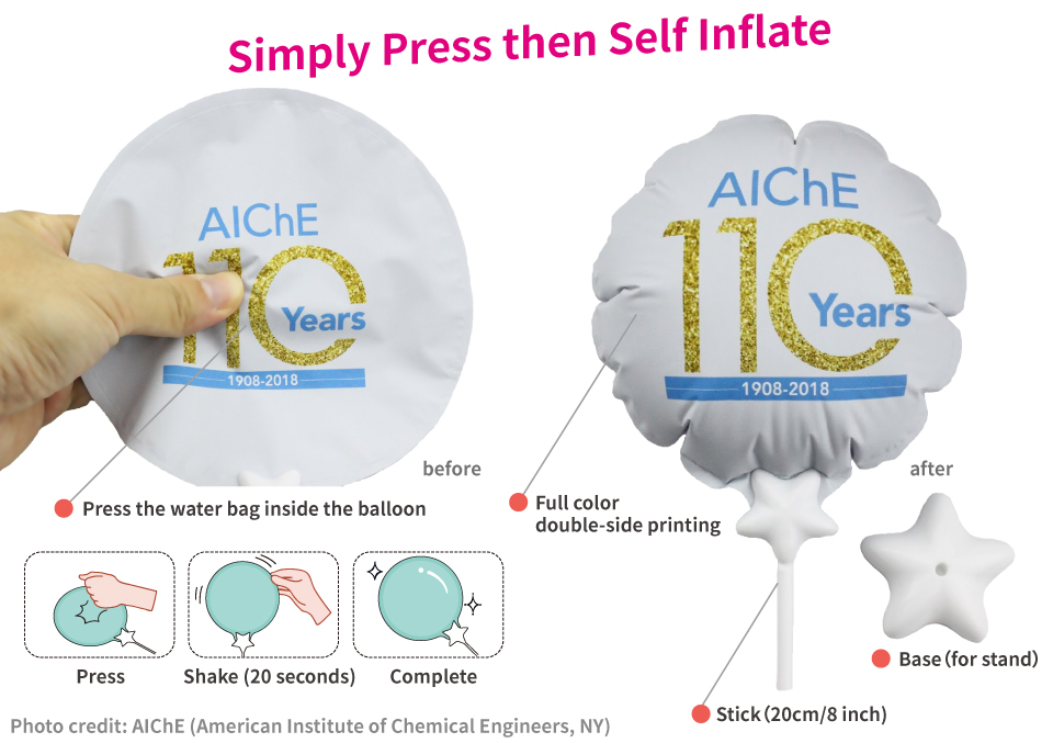 Press it and self inflate