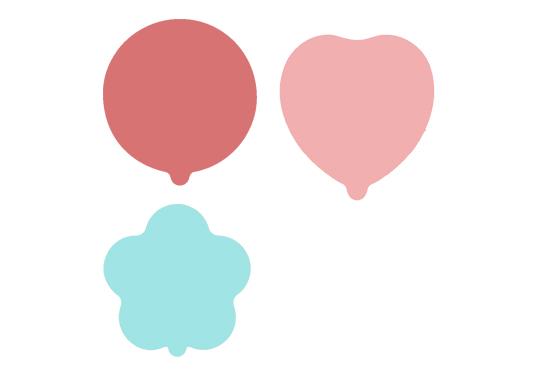 自動充氣氣球-15公分-圓形、花形、愛心