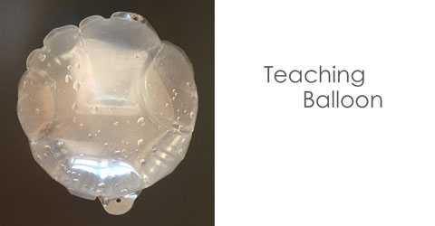 Transparent Self-Inflating Balloons for education, teaching, child, kids, science
